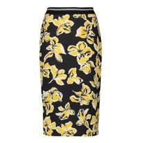 GERRY WEBER 110011 SKIRT BLACK/YELLOW