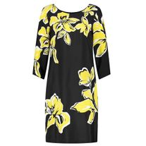 GERRY WEBER 180021 DRESS FLOWER YELLOW/BLACK