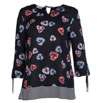 GERRY WEBER 160023 FLORAL TOP BLUES/RED