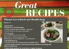 Luv a duck soup recipe