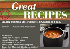 Smokey Spanish Style Tomato & Chickpea Soup