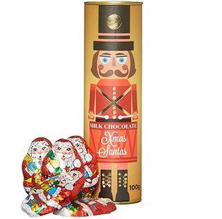 Xmas Nutcracker Canister Santas 100g