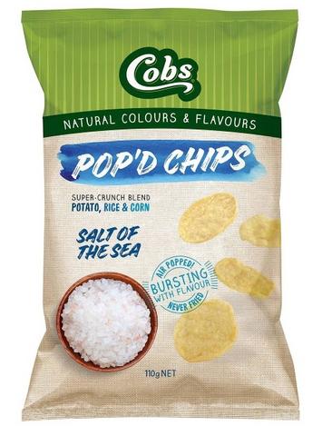 Cobs Popd Sea Salt (12x110g)