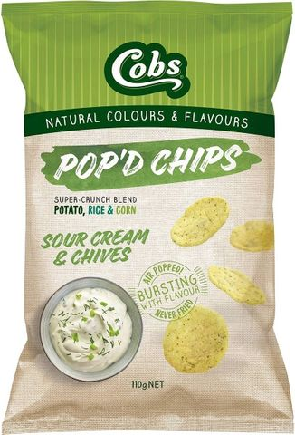 Cobs Popd Sour Cream & Chives (12x110g)