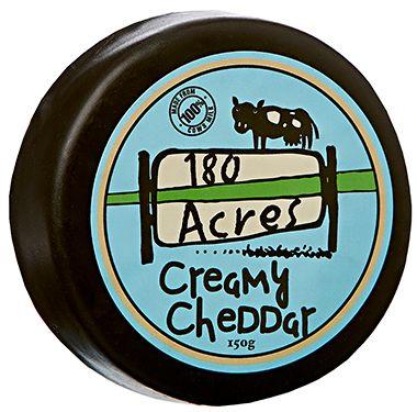 180 Acres Creamy Wax Cheddar 150g