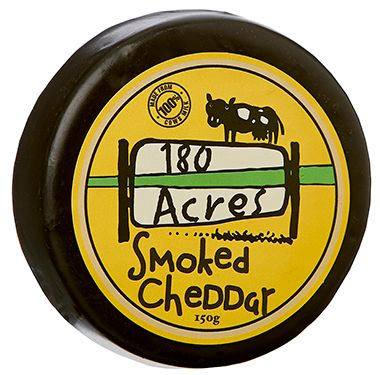 180 Acres Smoked Wax Cheddar 150g