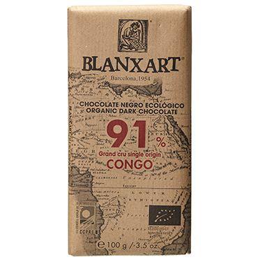 Blanxart Org Dark Chocolate 91% 100g