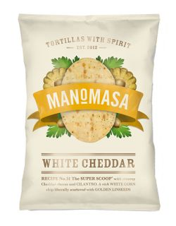 Manomasa White Cheddar Corn Chip 160g