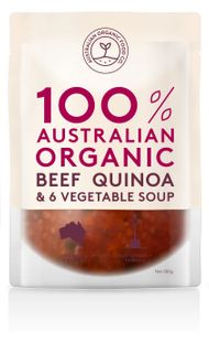 Chilled AOFC Beef & Quinoa Soup 500g
