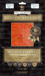 St James Whisky Honey Salmon 100g