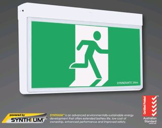 LED Slide & Cont Slimline Exit Synthium