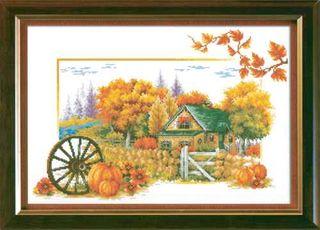 Comp Cross Stitch Kit - Autumn Cottage