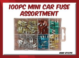 100pc Mini Car Fuse Assortment