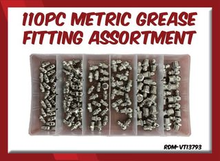 110PC Metric Grease Fitting Assortment