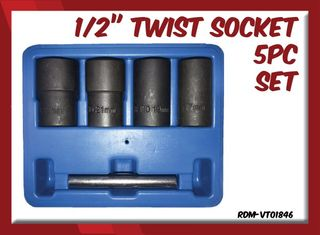 "1/2"" Twist Socket 5pc Set"