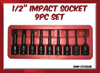 "1/2"" Impact Spline Socket 9pc Set (RIBI)"