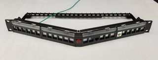 Angle Unloaded 24 Port Patch Panel
