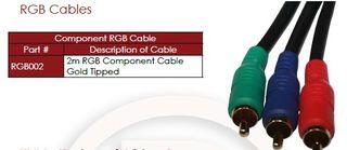 1.5m 3 x RCA Lead RGB