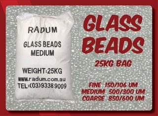 25kg Glass Beads - Fine 150/106um