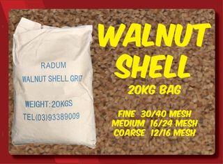 20kg Walnut Shell - Medium 16/24 Mesh