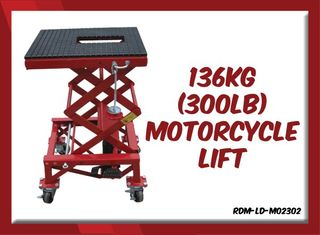 136kg (300lb)  Motorcycle Lift