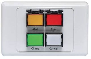 ALRT/EVAC/CHIME/CANCEL buttons