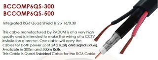 RG6 Q/S + 2 x 16/0.30 Composite