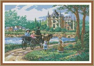 Comp Cross Stitch Kit - Horse & Carriage