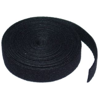 12mm x 50m Hook and Loop Roll black