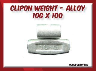 10g x 100 Clipon Weight Alloy