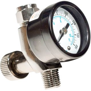 1/4 AIR REGULATOR W/GAUGE FOR SPRAY GUN