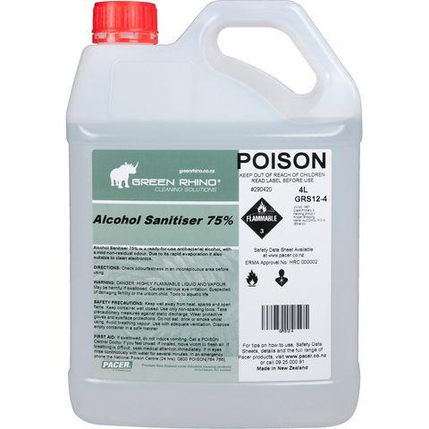 GREEN RHINO® ALCOHOL SANITISER 75%