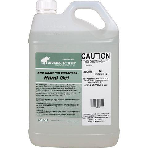 GREEN RHINO® ANTIBACTERIAL HAND GEL (WATERLESS)