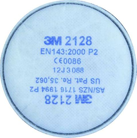 3M 2128 GP2 PARTICULATE, OZONE & NUISANCE (1 PAIR)