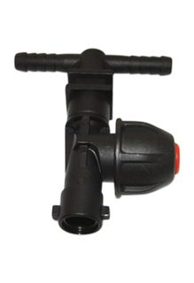 Dry boom nozzle holder | Tee check valve