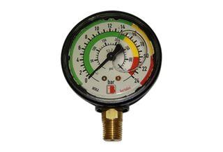 Gauge 0-24 bar (340 psi)