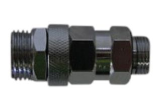 1/2 inch BSPM to 3/8 inch NPTM swivel