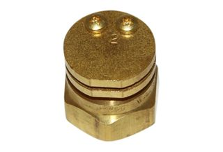 #2 boomless nozzle 1/4 inch brass