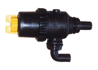 Suction filter with shut off valve
