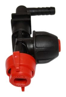 Dry boom nozzle holder w/ check valve