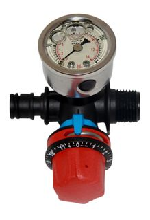 Quick attach pressure regulator & gauge