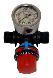 Threaded pressure regulator & gauge