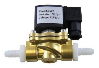 Brass 12 volt solenoid valve only