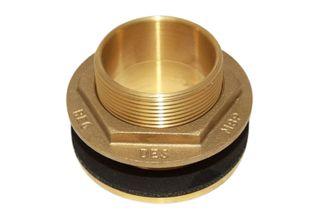 1 1/2 inch brass tank fitting