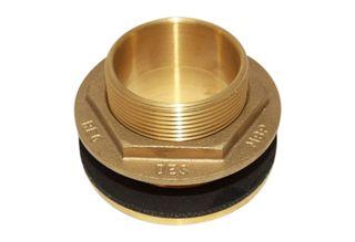 2 inch brass tank fitting