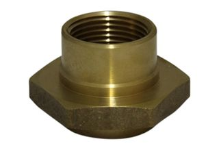 Swivel end brass nut for hose reel