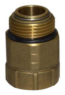 1 inch BSPM to 1 inch BSPF brass swivel