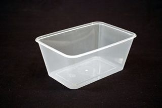 Genfac Container Rectangle 1000ml Slv 50