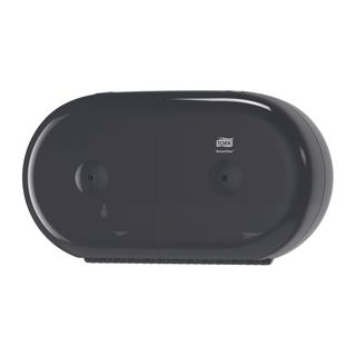 Tork SmartOne Twin Mini Toilet Elevation Dispenser Black
