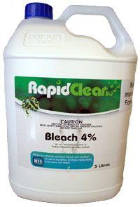 Bleach 4% Rapid 5L